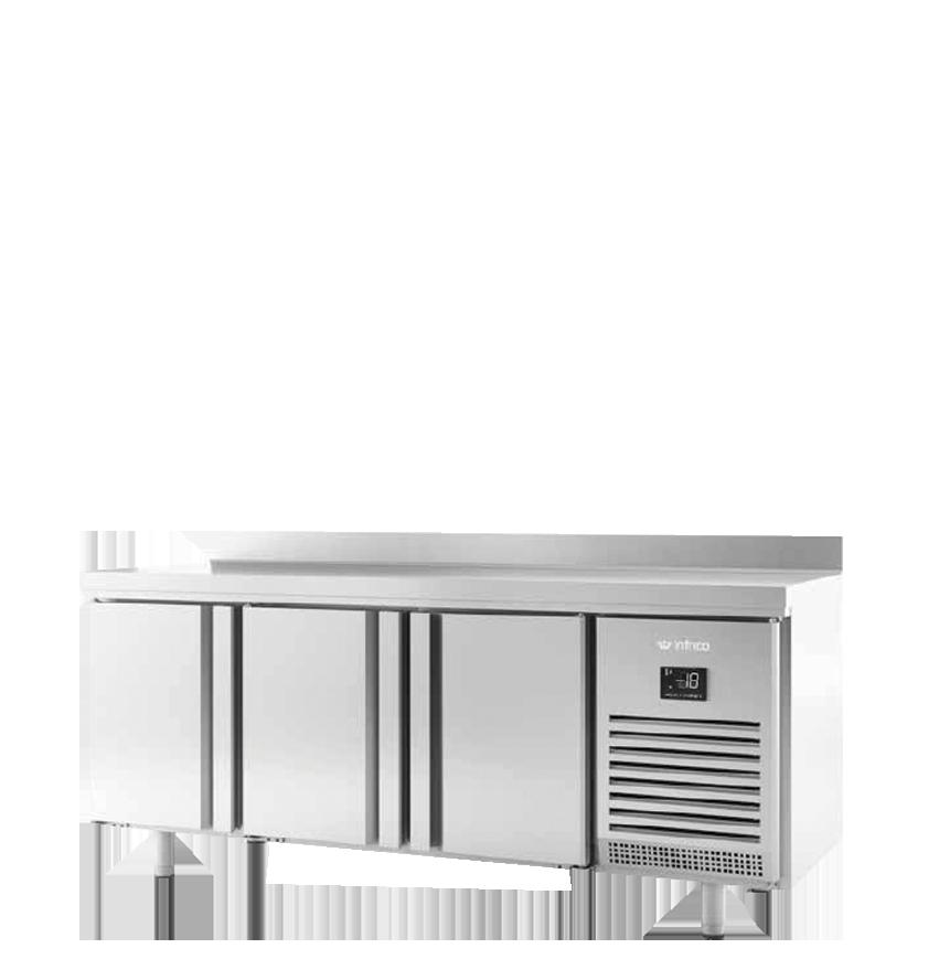 Mesas inox. refrigeradas