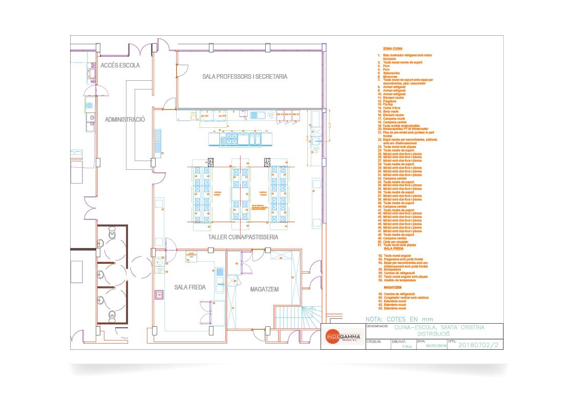Descripció instal·lació Escola Hotel Santa Cristina